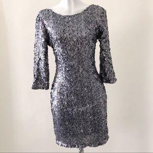 Alberto Makali silver sequin dress P170